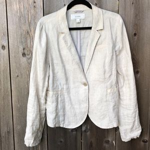 Caslon Linen One-Button Blazer